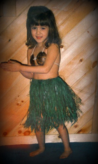 My little hula girl...19 years ago.